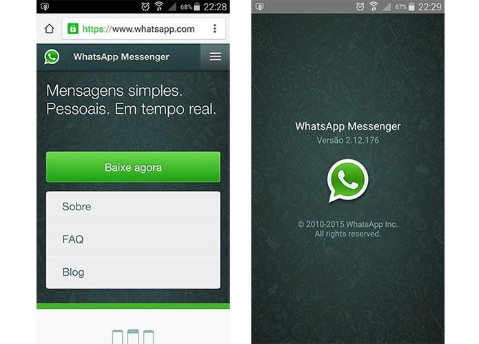 Instale a mais recente versão do app para usar o WhatsApp Web (Foto: Reprodução/Barbara Mannara)