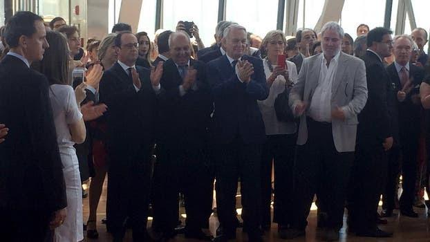 Hollande, Lombardi y personalidades del arte, la música y la literatura participaron del evento. Foto: LA NACION / Maia Jastreblansky