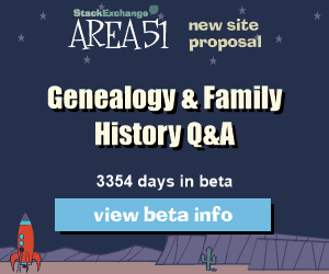 Stack Exchange Q&A site proposal: Genealogy