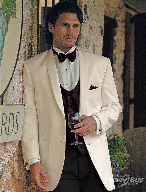 Classic Design Shawl Lapel Ivory White Groom Tuxedos Men's