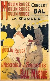 Toulouse-Lautrec Moulin Rouge Plakat