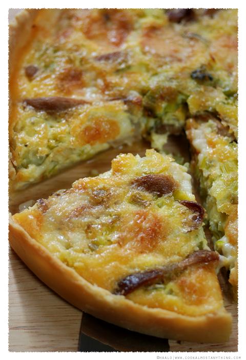 leek and oyster mushroom tart by Haalo