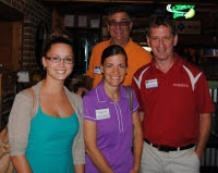Jenna Fliszar, Todd Patnaude, Barbara Smith present at Texas Roadhouse Easton Event