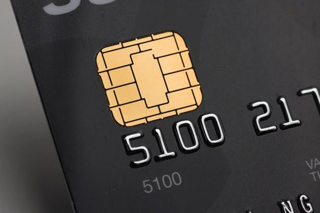 Chip-and-PIN credit card