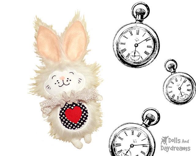 White Rabbit Sewing Pattern Alice in Wonderland