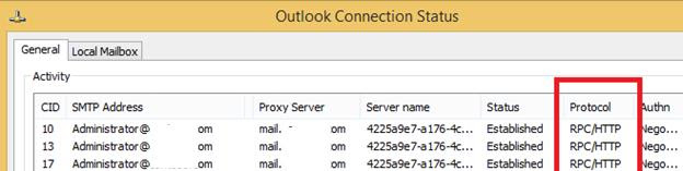Outlook подключение RPC over HTTP