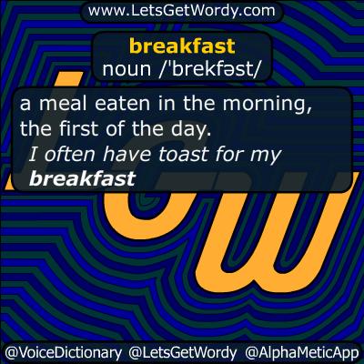 breakfast 10/08/2015 GFX Definition