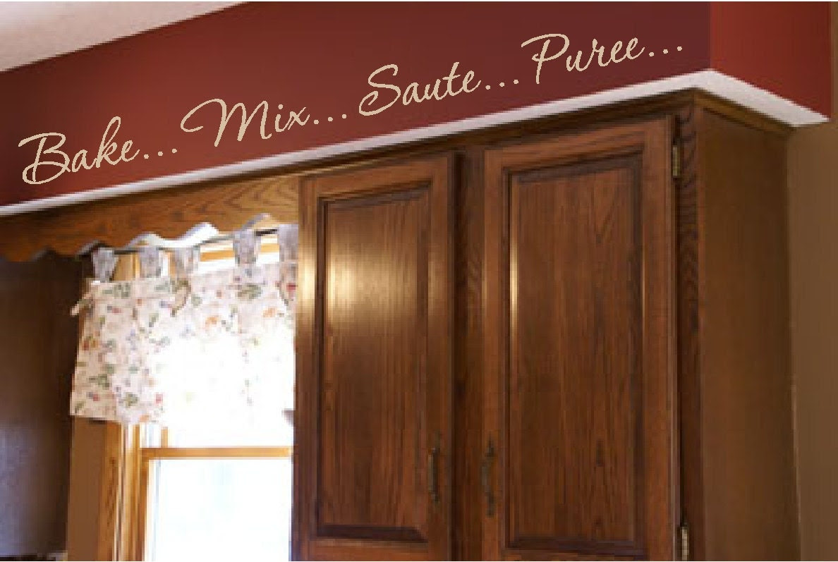 Kitchen Words Actions Wall Border Soffit Border by VisionsInVinyl