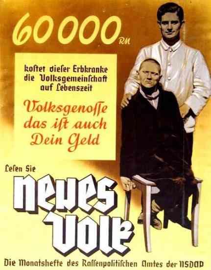 Nazi eugenics propaganda