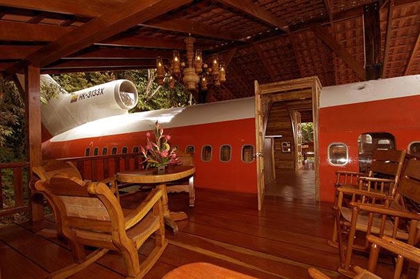 casasExtrañas avion Boeing 727 terraza