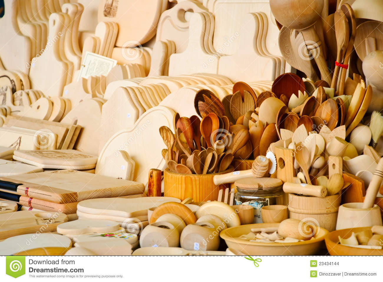 Wooden Kitchen Accessories Stock Images - Image: 23434144
