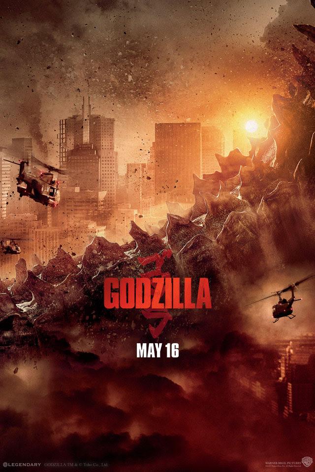 Godzilla Movie 2014 HD, iPhone  iPad Wallpapers