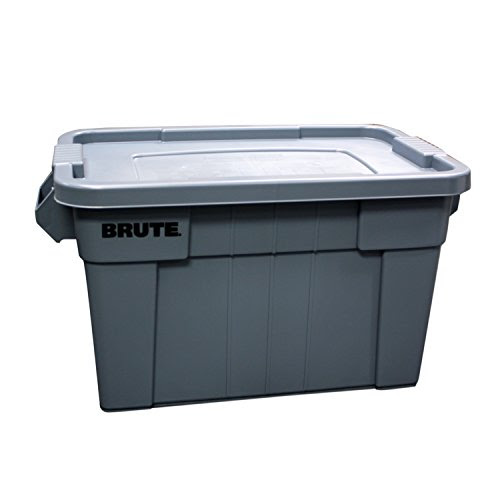 Review Of Rubbermaid Commercial FG9S3100GRAY Brute Tote with Lid, 20-Gallon Capacity, Gray