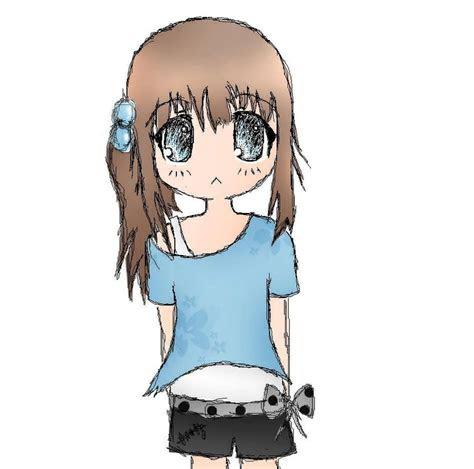 random girl drawing colored  barajougenie  deviantart