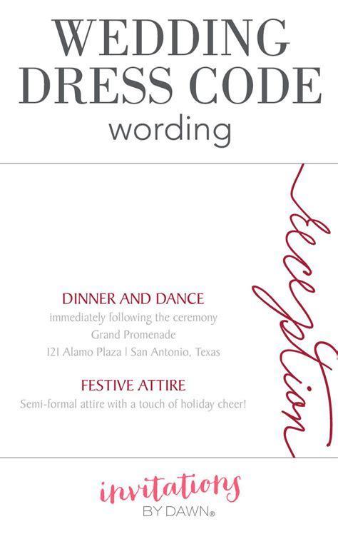 Wedding Dress Code Wording   Invitations by Dawn