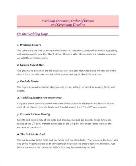 Sample Wedding Timeline   7  Documents in PDF