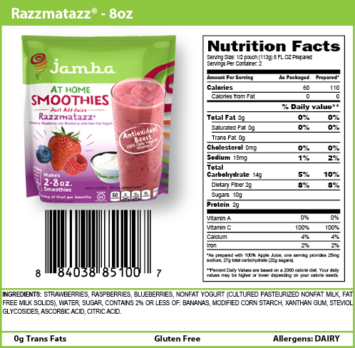 Mango Smoothie Nutrition Facts