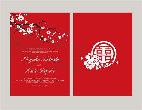 Japanese style invitation vector   Download Free Vector
