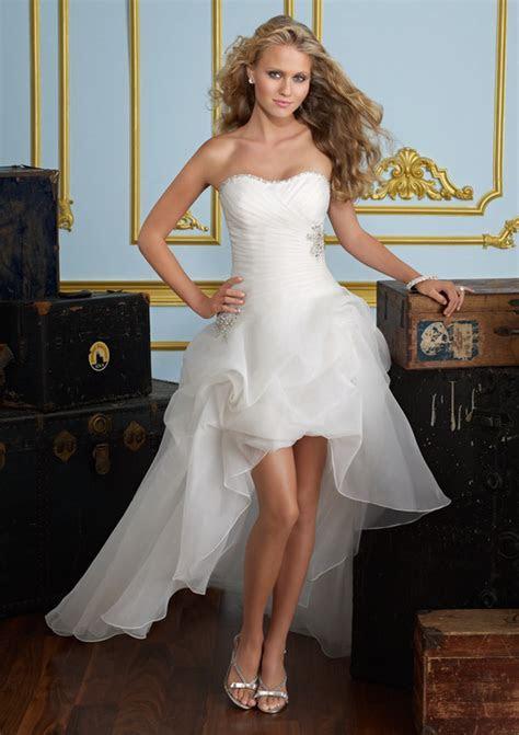 Honey Buy: short front long back wedding dresses