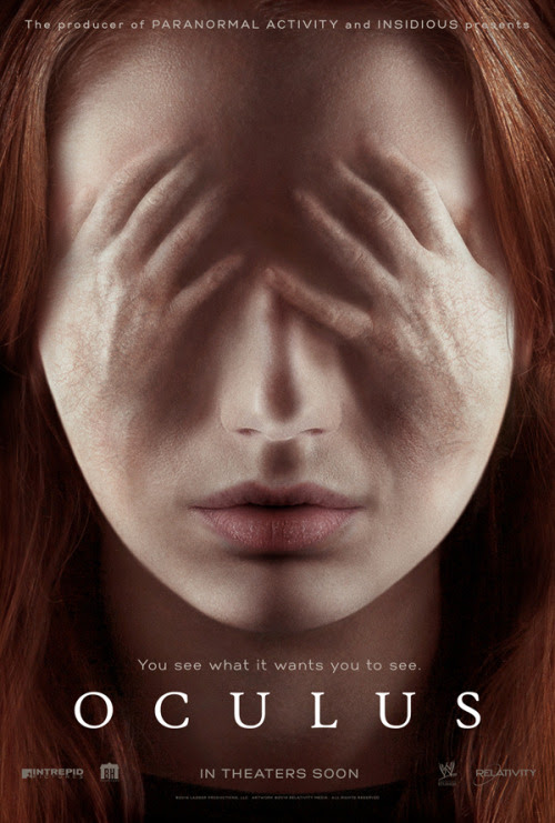 poster for Oculus starring Karen Gillan and Katee Sackhoff