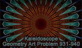 Geometric Art: Kaleidoscopic Patterns of Geometry Problem 931-940, iPad Apps