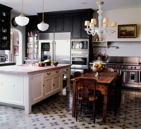 Green Kitchen Floors: Little Green Notebook: Reader DIY: Stenciled Kitchen Floors