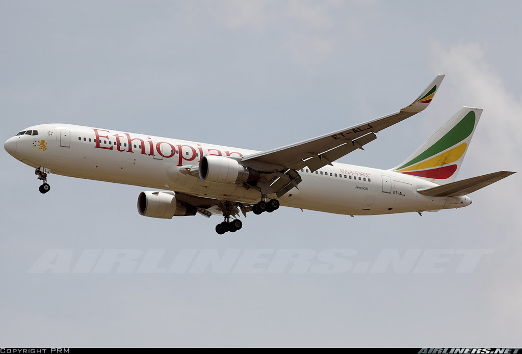 Ethiopian 767 with Winglets