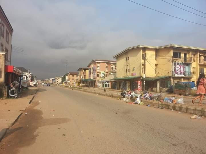 Imo streets deserted