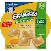 Gerber Graduates Pasta Pick-Ups For Toddlers, Cheese Ravioli - 6 oz bowl