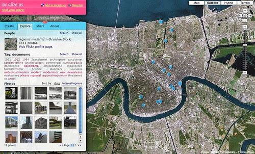DOCOMOMO New Orleans map
