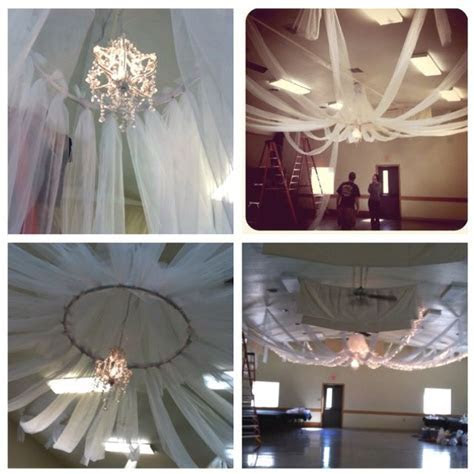 decorating ceiling with tulle   DIY ceiling decor. All you