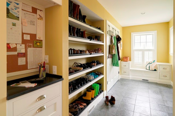 Mudroom Organization | Mud Room Designs | Organizing Entryway