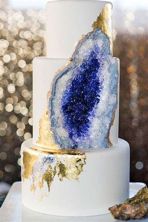 Be in trend! Geode Wedding Cakes For Stylish Event