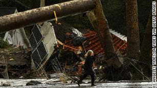 These images show the mudslide devastation in California