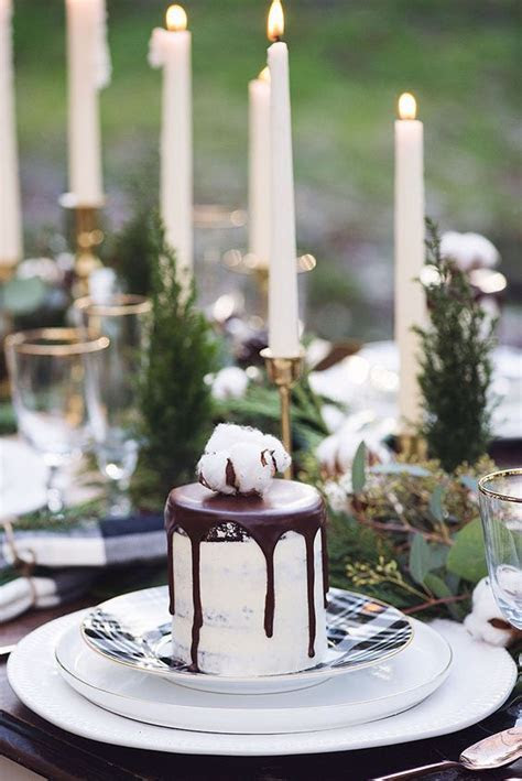 Picture Of individual semi frosted wedding cake with