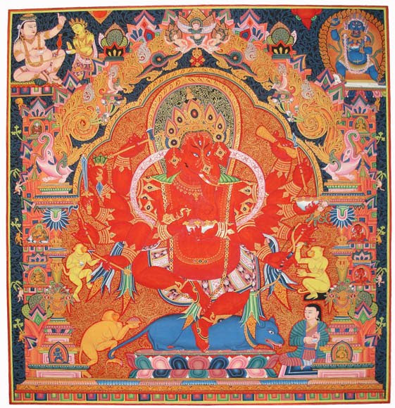 Newari Ganesha Thanka