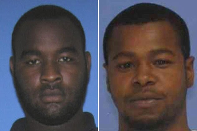 The armed and dangerous suspects have been identified as Curtis Banks (left) and Marvin Banks (right)