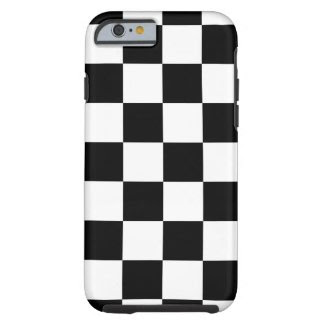Black & White Checkered Pattern iPhone 6 Plus Case