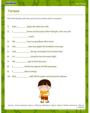 Tensed Printable 3rd Grade Verb Tenses Worksheet Jumpstart