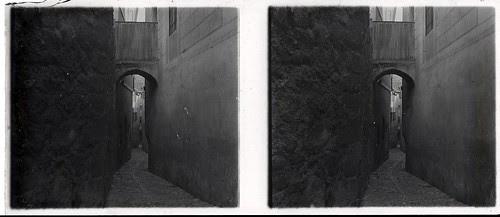 Callejón del Nuncio Viejo en los años 20. Fotografía de Ángel del Campo Cerdán