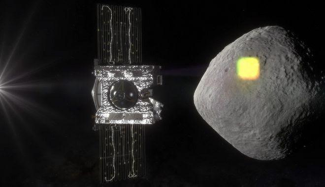 Φωτογραφία από προηγούμενο αστεροειδή (Μπενού)που βρισκόταν κοντά στη γη