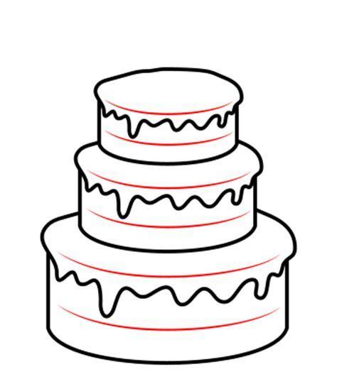 Drawing a cartoon cake