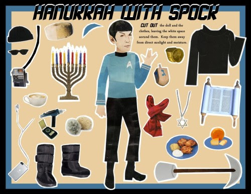 bugeyedbistro:    Spock Hanukkah Paper doll magnetic fun collage by MellyMo on Etsy