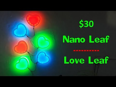 DIY Nano Leaf - Love Leaf