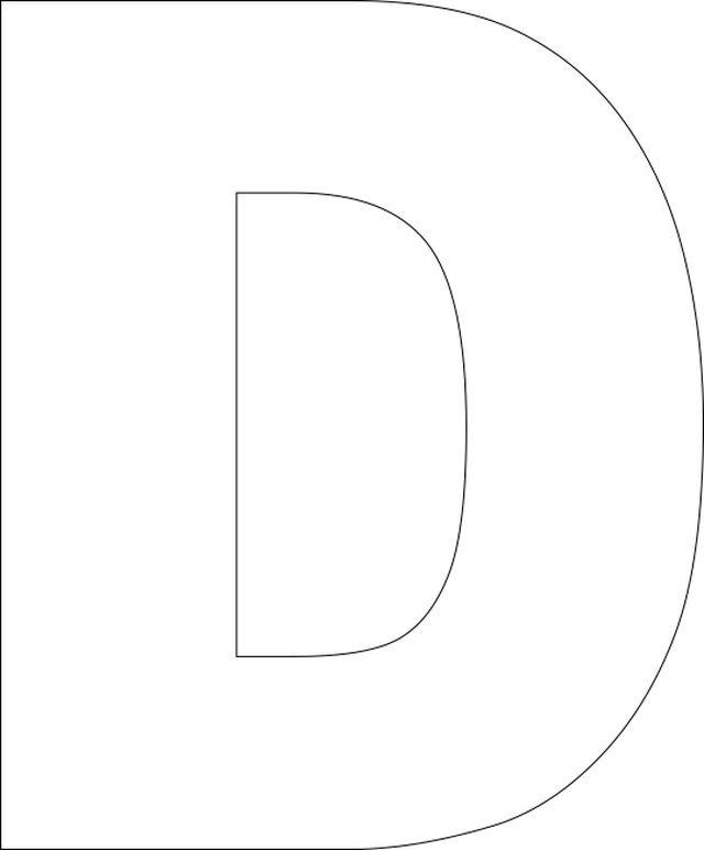 Printable Letters D – printable calendar