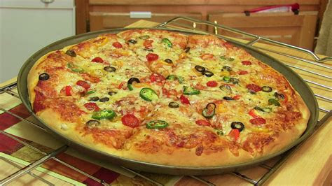 homemade pizza cooking  cookeryshowcom
