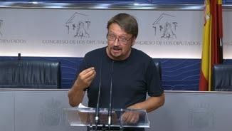 Xavier Domènech no veu gens clar que Rajoy decideixi optar per a la investidura la setmana que ve