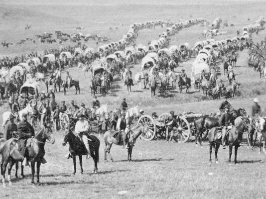Custer crossing the plains of Dakota Territory.png
