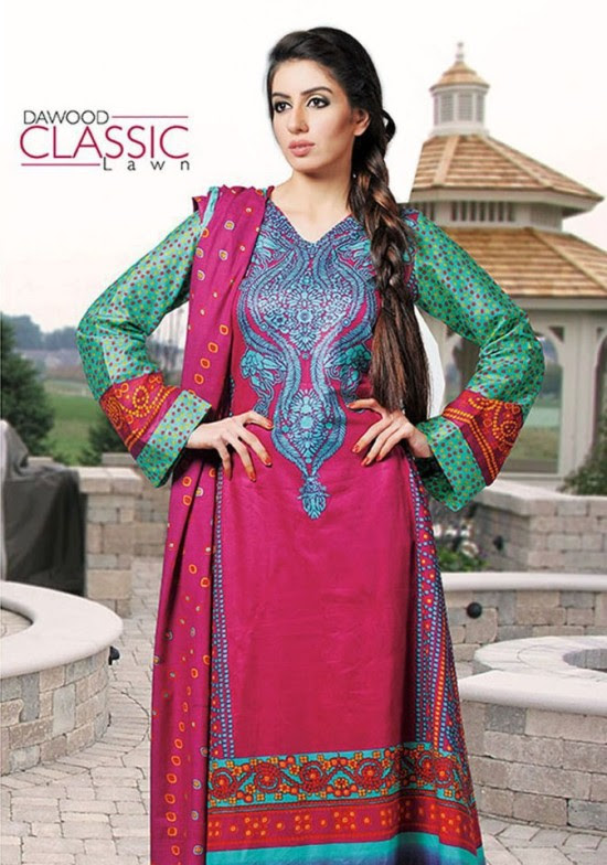 Dawood-Textile-Classic-Lawn-Collection-2013-New-Latest-Fashionable-Clothes-Dresses-11