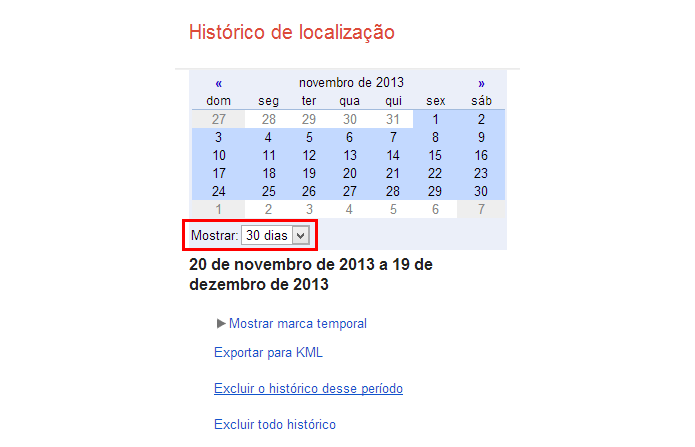 Escolha os dias que deseja ver e o ponto de referência no calendário (Foto: Reprodução/Paulo Alves) (Foto: Escolha os dias que deseja ver e o ponto de referência no calendário (Foto: Reprodução/Paulo Alves))